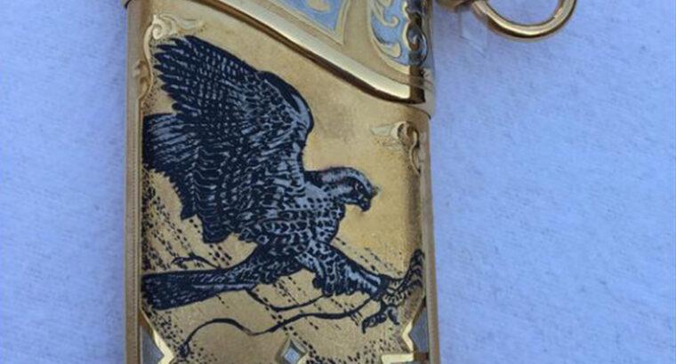 Gold plated , Damascus steel dagger
