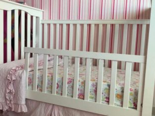 Baby/toddler bed plus changing table from Pottery