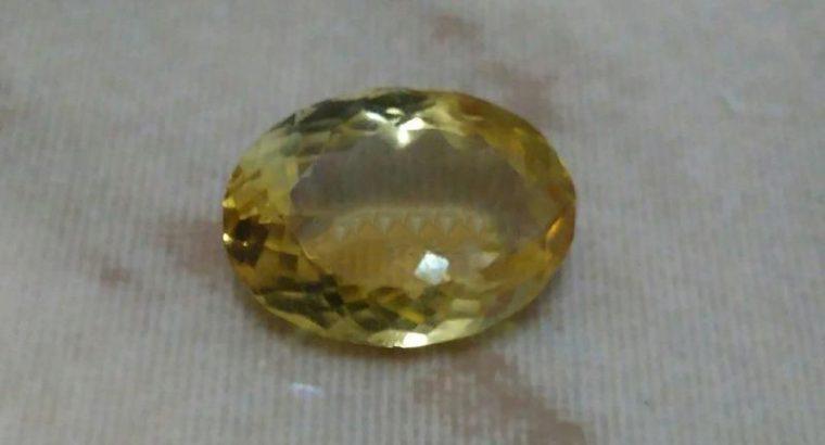 Yellowish Orange French Citrine