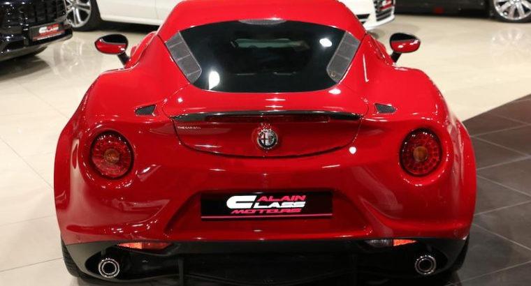 Alfa Romeo 4C – 2015 – With Warranty