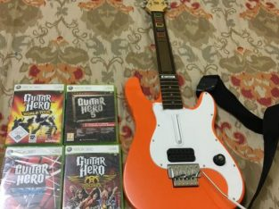 Guitar with Games – Xbox 360