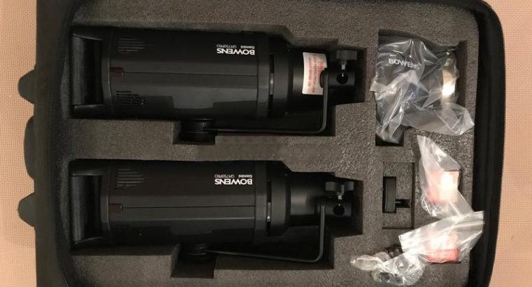 BOWENS GEMINI 750PRO 2-LIGHT KIT NEW!!!!!!!