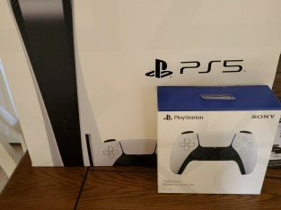 Sony PS5 – PlayStation 5 Console Disc Version – 825GB – White