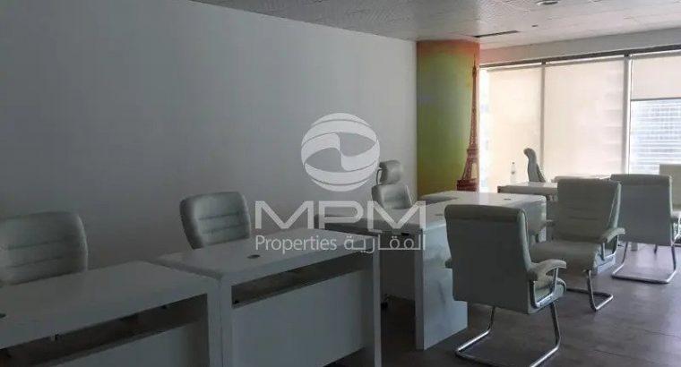 Furnished Office | Burj & Lake View | 4 Chq